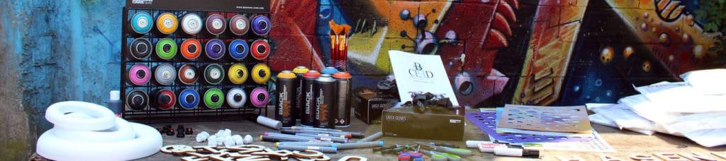 Action Art ist der Graffiti Workshop als kreative Betriebsausflug mit dem Team | b-ceed: events