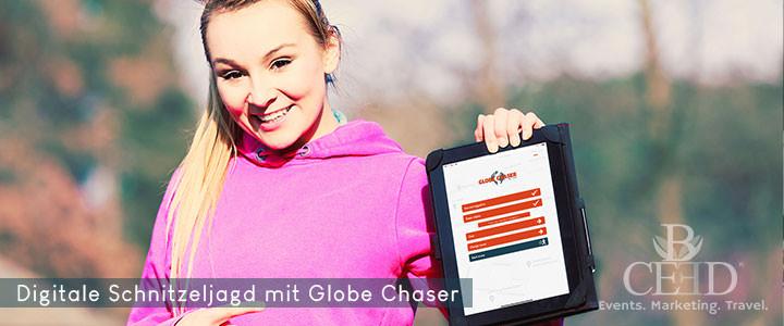 Schnitzeljagd für Firmen Teamevent mit Globe Chaser App - bceed events