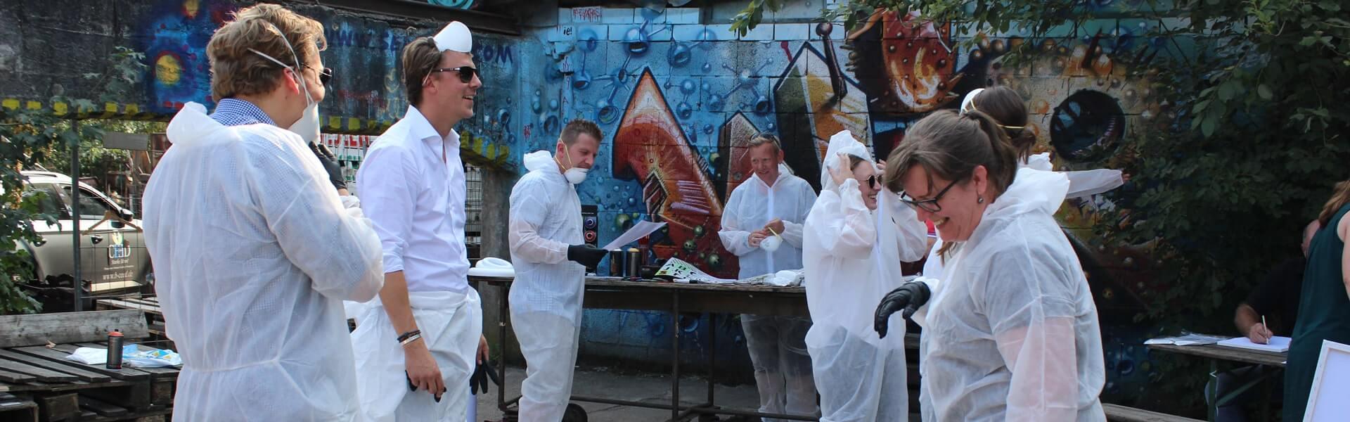 Graffiti Workshop als Teambuilding Event Idee mit b-ceed