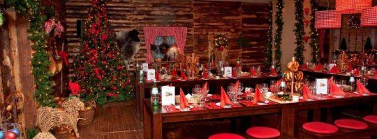 Hüttenzauber Weihnachtsfeier mit gemütlicher Atmosphäre