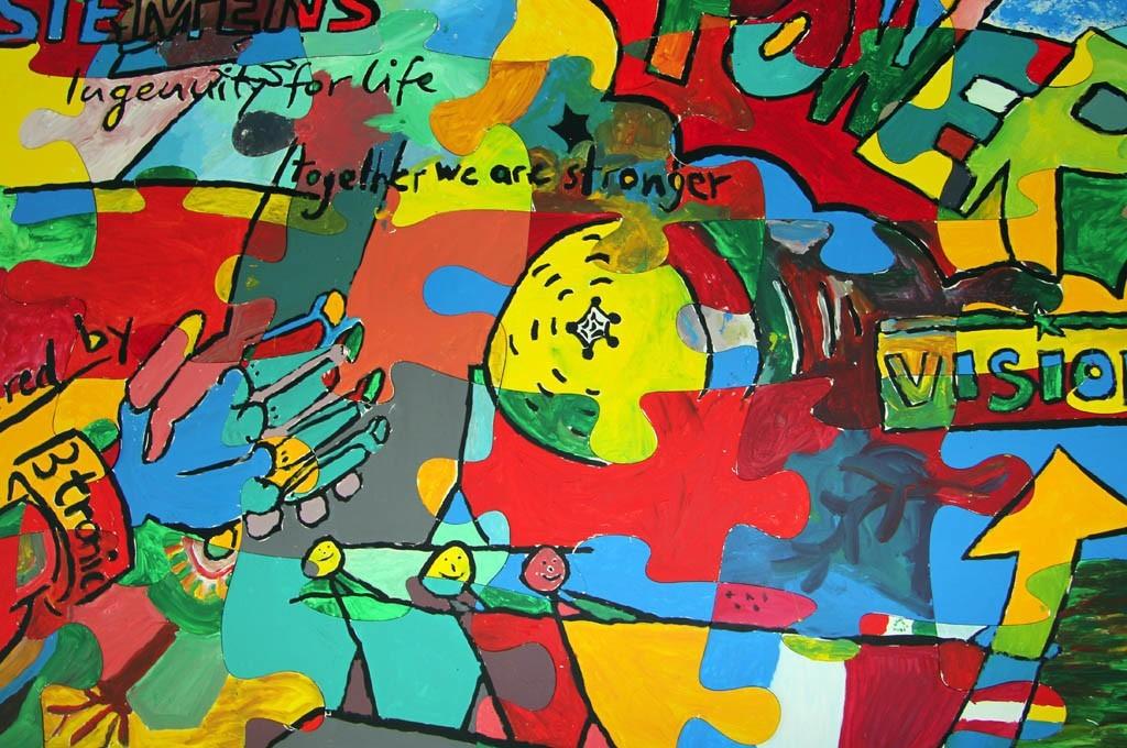 Puzzle Team Painting ist der Kreativ Workshop von b-ceed! Sie erstellen ein Kunstwerk für Ihre Firma!