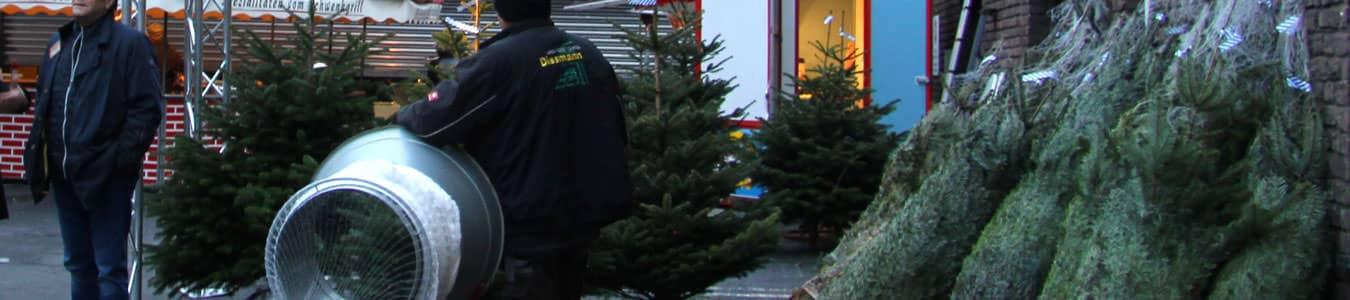 Oh Tannenbaum schlagen heißt es bei Ihrer Weihnachtsfeier auf dem Firmengelände mit der mobilen Tannenbaumschulugen zur Weihnachtsfeier   b-ceed: events