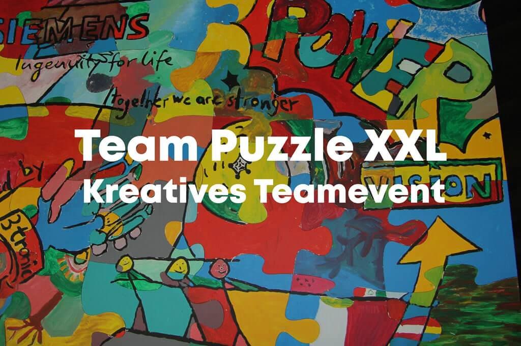Teambuilding Event mit XXL Puzzle von b-ceed