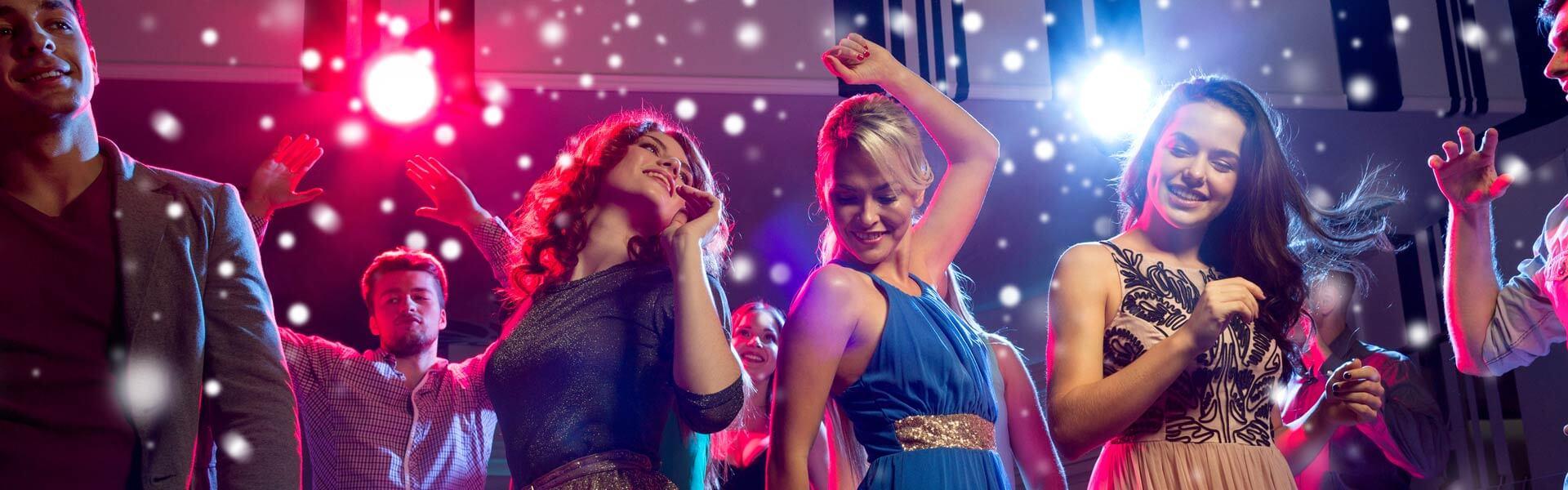 Weihnachtsfeier mit Mottoparty der 50er und 60er Jahre Disco Feeling b-ceed events