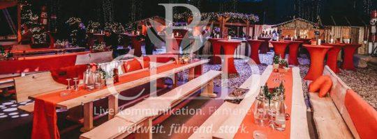 Der mobile Firmen Weihnachtsmarkt Indoor b-ceed: events