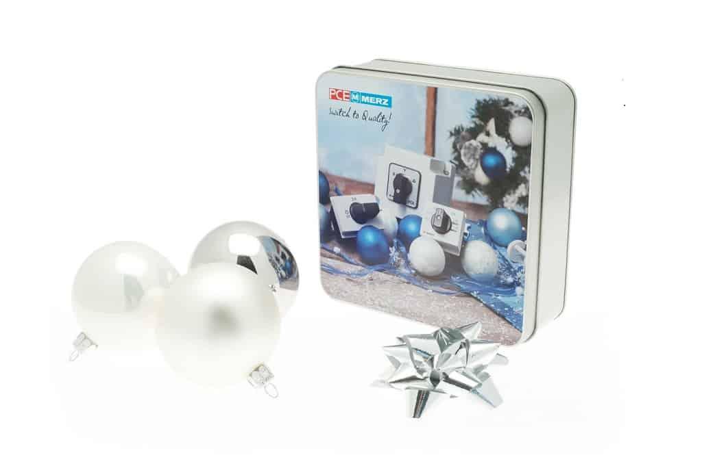 weihnachtsdosen als geschenkverpackung mit umweltgedanke: b-ceed