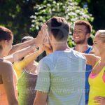 Teamarbeit für mehr Motivation nach der Arbeit bei b-ceed: events