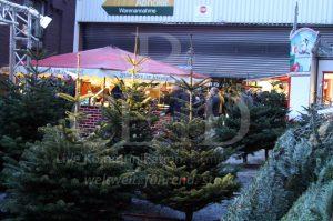 Mobile Tannenbaum Schonung auf Ihrem Weihnachtsmarkt mit b-ceed: events