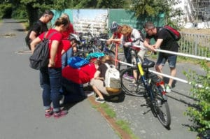 Fahrrad Schnitzeljagd als Sommerevent 2018 mit dem Team und b-ceed: events
