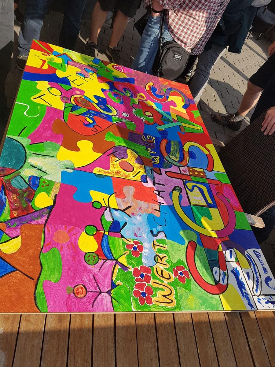 Kreatives Puzzle Teambuilding Workshop mit b-ceed