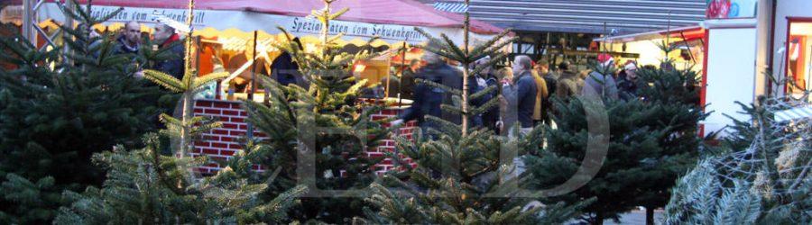 mobiler weihnachtsmarkt und tannenbaumschlagen für firmen