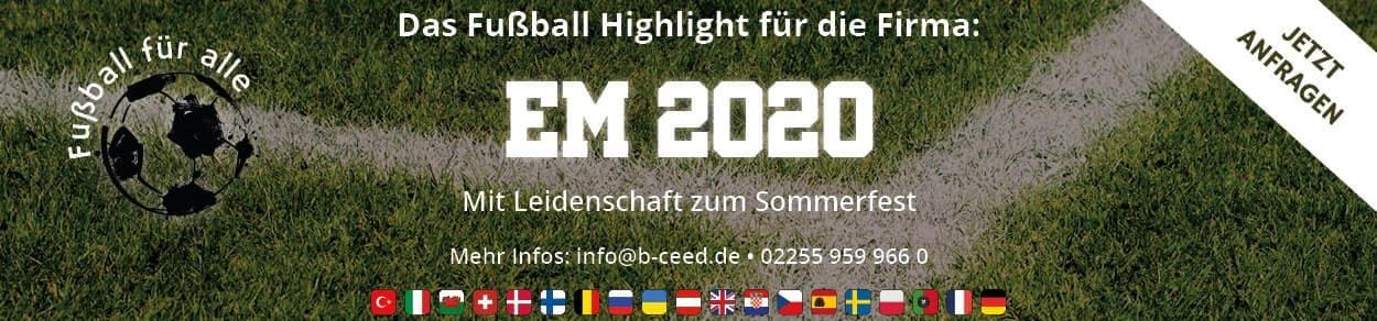 Absolut Fussball EM 2020 das Sommerfest und Firmenevent mit b-ceed: events
