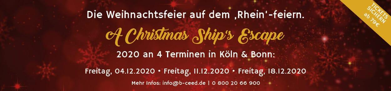 escape for christmas schiff weihnachtsfeier 2020 Köln Bonn