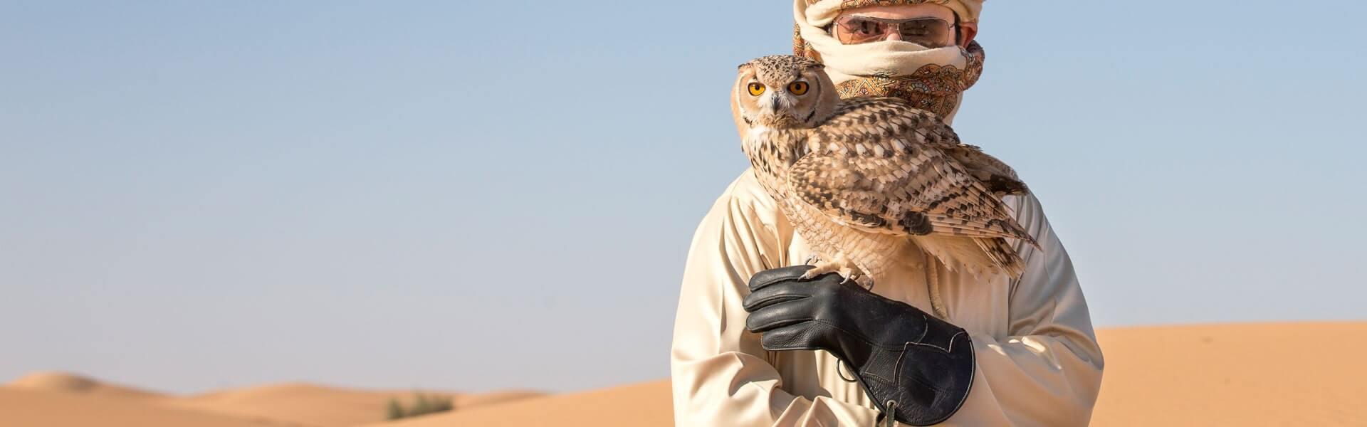 Incentive Reise Dubai mit Falkenshow in der Wüste zum Sundowner, b-ceed