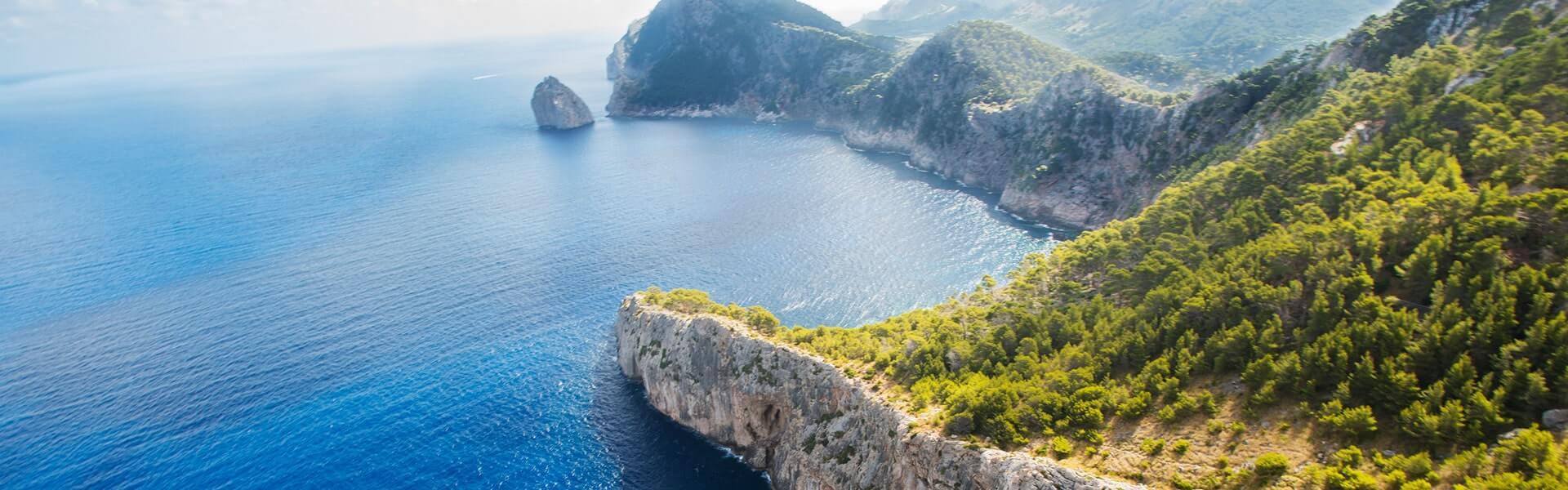 Aussicht auf Mittelmeer vor Mallorca