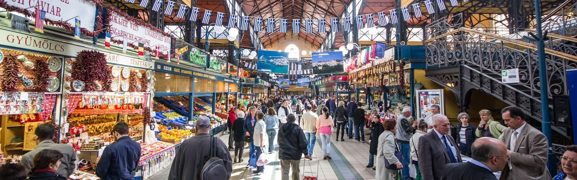 Besichtigung der Budapester Markthalle bei Ihrer Firmen Reise Budapest