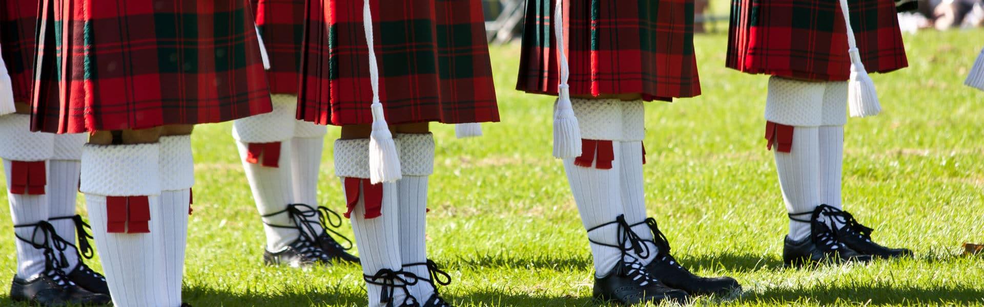 Schottenrock und Dudelsack gehören zur schottischen Kultur