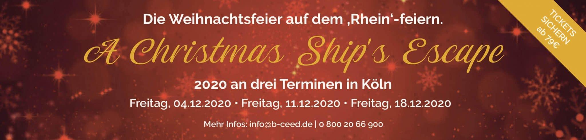 escape for christmas schiff weihnachtsfeier 2020 koeln