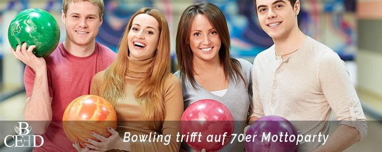 Betriebsausflug Aachen, 70er Jahre Motto und Bowling mit b-ceed