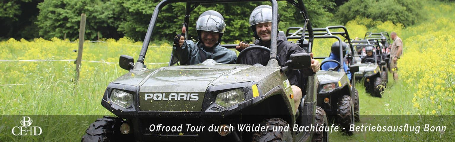 Offroad und Outdoor Betriebsausflug bei Bonn mit b-ceed: events