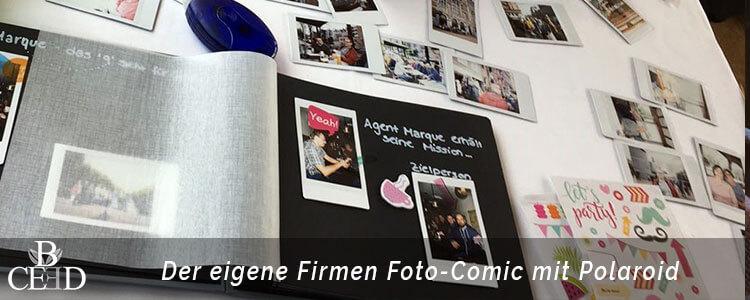 Betriebsausflug Bremen: Kreative Foto Comic Tour mit Polaroid Kameras für den eigenen Firmen Comic mit der Eventagentur b-ceed.
