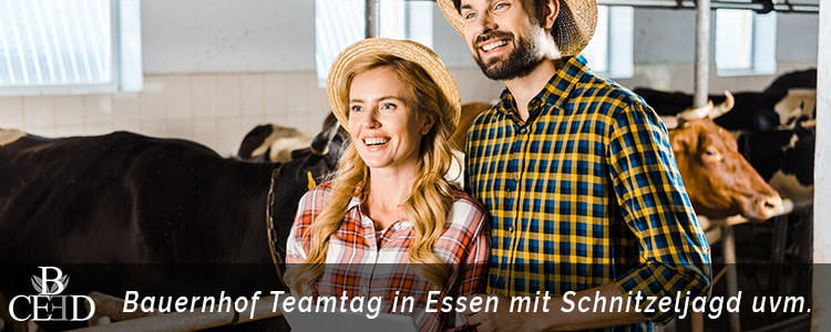Betriebsausflug in Essen auf dem Bauernhof - Teamevent für einen Tag mit Rinder Farm und Schnitzeljagd - b-ceed: events buchen