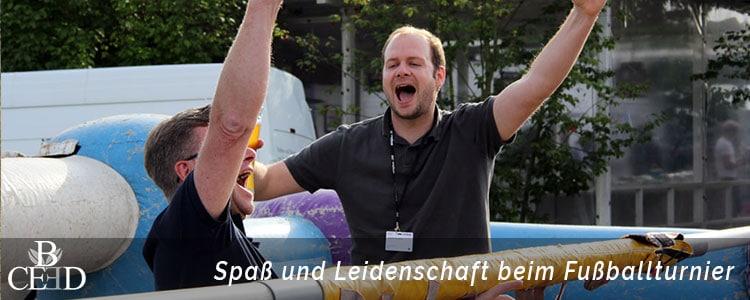 Betriebsausflug Hannover - Spaß und Leidenschaft beim eigenen Fussballturnier auf dem Firmengelände mit b-ceed