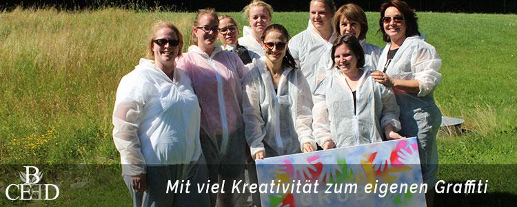Betriebsausflug Hannover: Kreativität beim Graffiti Workshop mit der Eventagentur b-ceed