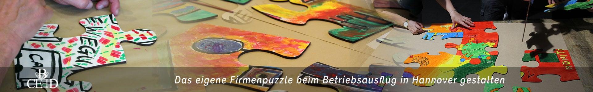 Beim Betriebsausflug in Hannover ein eigenes XXL Puzzle kreativ gestalten mit b-ceed