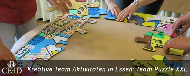 Betriebsausflug in Essen Ruhr - Museum Folkwang besuchen und kreative Teamevents mit b-ceed erleben - Team Puzzle XXL buchen