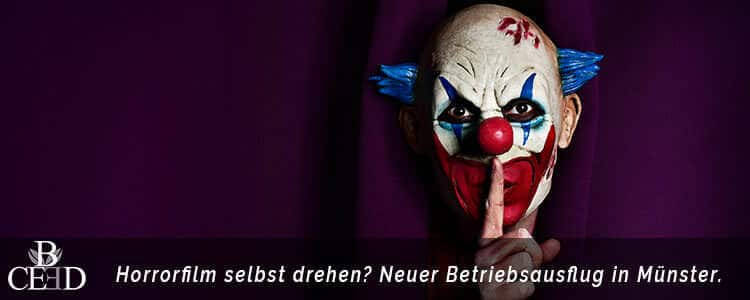 Betriebsausflug in Muenster: Film drehen, Horrorfilm Dreh mit b-ceed: eventagentur