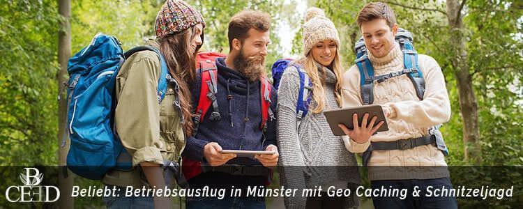 Betriebsausflug in Muenster mal ausgefallen: Rallye und Geocaching Schnitzeljagd mit digitaler App - b-ceed: eventagentur