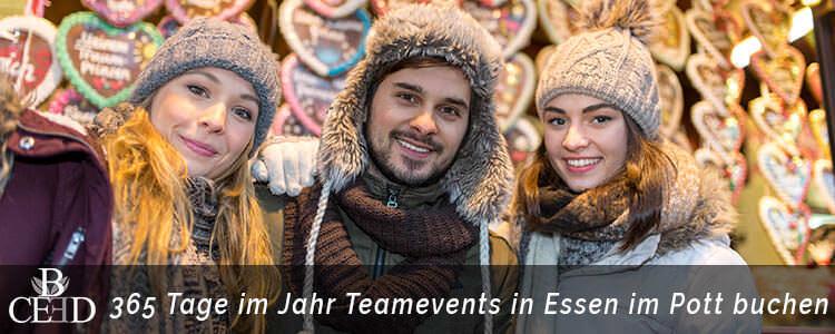 Betriebsausflug zur Weihnachtsfeier in Essen - ganzes Jahr über events mit b-ceed eventagentur planen