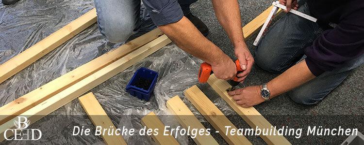 Brückenbau als kreatives Teambuilding in München mit b-ceed
