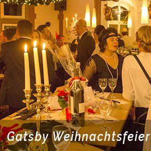 Gatsby Motto Party zur Weihnachtsfeier Aachen mit der Eventagentur b-ceed planen.