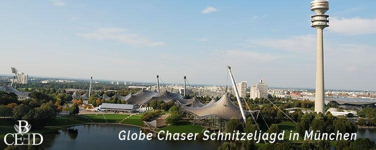 Teambuilding München:Mit Globe Chaser eine digitale Schnitzeljagd durch den Olympiapark in München als outdoor Teamevent mit b-ceed