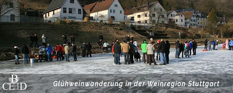 Glühweinwanderung durch die Weinregion Stuttgart als Weihnachtsfeier - b-ceed: events
