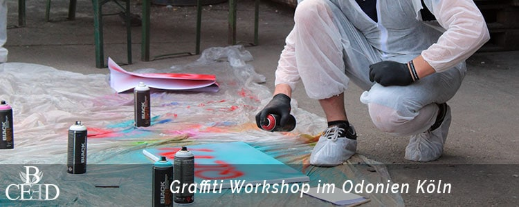 Betriebsausflug Koeln: Graffiti Workshop im Team mit b-ceed