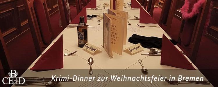 Krimi Dinner zur Weihnachtsfeier Bremen von b-ceed