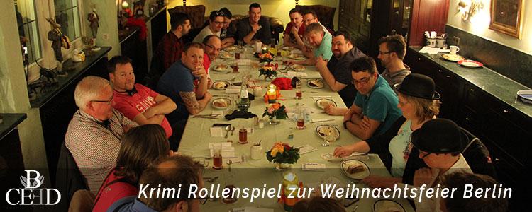 Lösen Sie beim Krimi Rollenspiel von b-ceed knifflige Fälle. Eine krimireiche Weihnachtsfeier in Berlin.