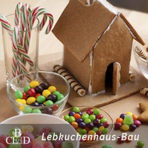 Kulinarische Weihnachtsfeier Bremen mit Lebkuchenhaus Bau in der Weihnachtsbäckerei von b-ceed, der Eventagentur in Bremen.