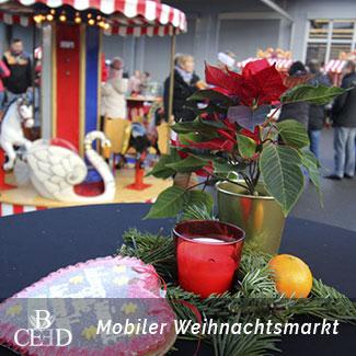 Mobiler Weihnachtsmarkt für Mitarbeiter, Kunden und Familie zur Weihnachtsfeier Stuttgart mit b-ceed