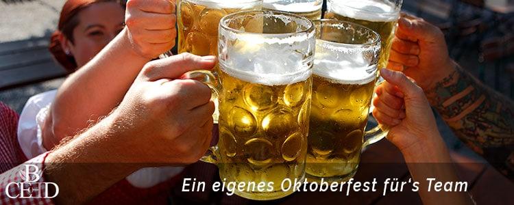 Teambuilding München: Das eigene Oktoberfest auf dem Firmengelände mit dem Team von b-ceed