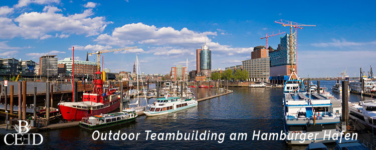Teambuilding Hamburg: Outdoor Teambuilding Events am Hamburger Hafen mit der Eventagentur b-ceed