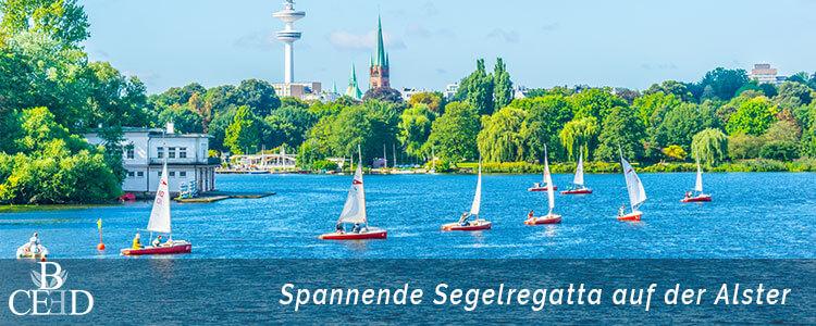 Teambuilding Hamburg: Aktives Teamevent auf der Alster Hamburg mit spannender Segelregatta von b-ceed - Ihre Eventagentur in Hamburg