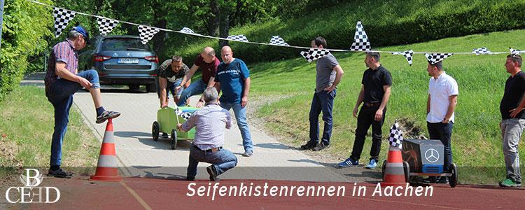 Seifenkistenrennen als Betriebsausflug in Aachen direkt bei der Eventagentur b-ceed buchen