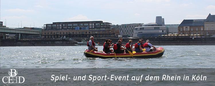 Betriebsausflug Koeln: Aktives Event mit Rafting auf dem Rhein – b-ceed