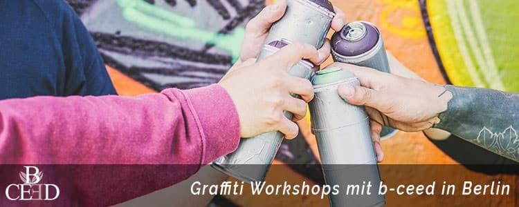 Teambuilding Berlin mit Graffiti Workshops und kreativen Teamevents buchen - b-ceed: events