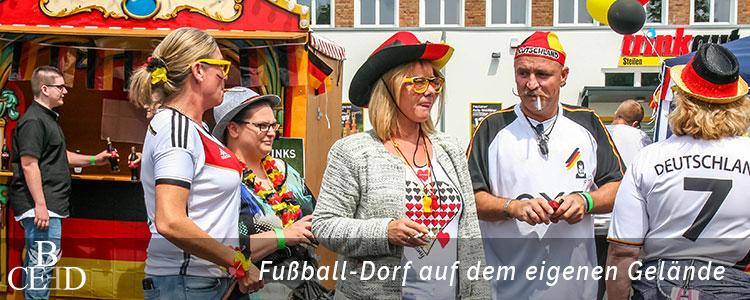 Teambuilding in Bonn: Mobiles Fußball Dorf auf Ihrem Firmengelände mit der Eventagentur b-ceed