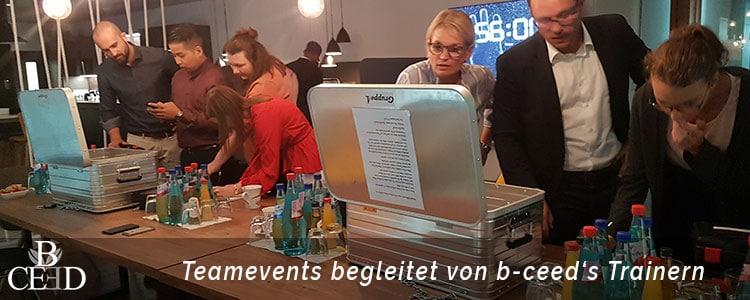 Teambuilding Bremen: Maßnahmen zur Mitarbeiterentwicklung und Coaching mit Trainer bei b-ceed: eventagentur